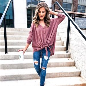 Tops - Button Down Thermal Top
